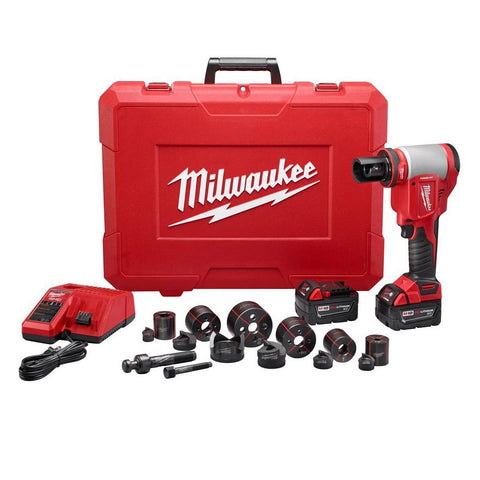 "Milwaukee 2676-22 FORCELOGIC M18 10-Ton Knockout Tool 1/2"" to 2"" Kit"