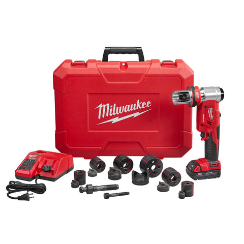 "Milwaukee 2677-21 M18 FORCE LOGIC 6T Knockout Tool 1/2"" - 2"" Kit"