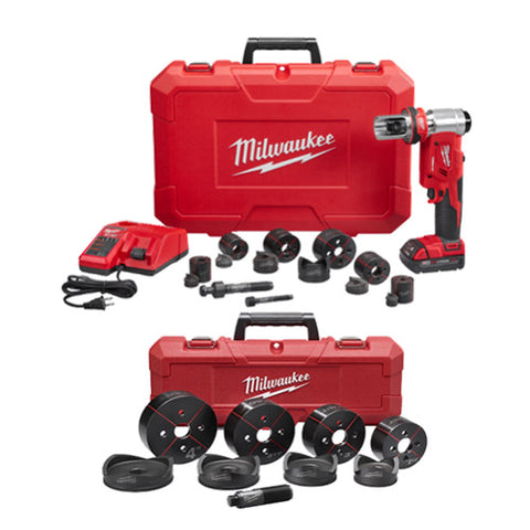 "Milwaukee 2677-23S M18 6T Knockout Kit with 1/2 - 4"" Punch Set"