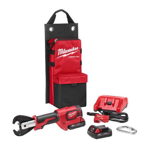 "Milwaukee 2678-22 M18 Force Logic 6T Utility Crimping Kit With D3 Grooves ""Snub Nose"""
