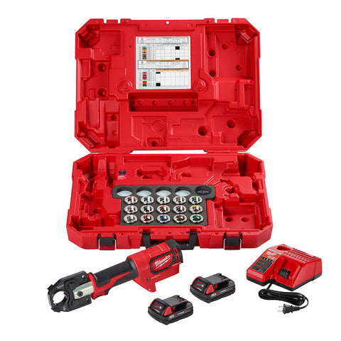Milwaukee 2679-600C M18 FORCE LOGIC 600 MCM Crimper Kit with #8–600 MCM Cu Dies