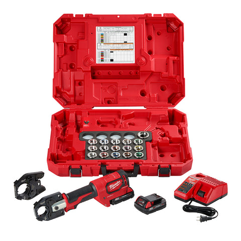 Milwaukee 2679-750C M18 FORCE LOGIC 600 MCM Cu Crimper Kit -750 MCM Expanded Jaw