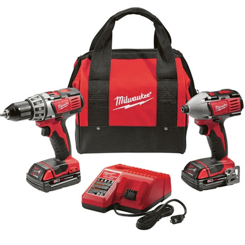 Milwaukee 2691-22 M18 Li-Ion 18V Compact Drill & Impact Driver Kit