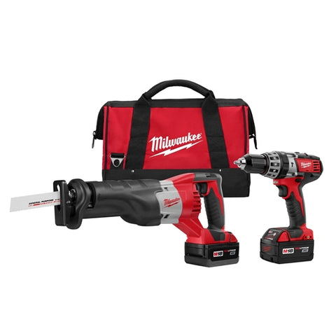 Milwaukee 2694-22 M18 2-Tool Combo Kit with Hammer Drill / Driver and Sawzall