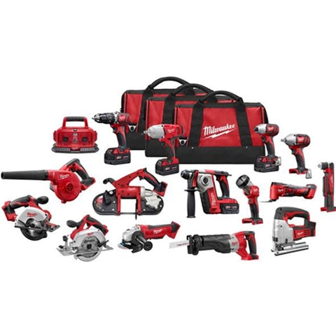 Milwaukee 2695-15 M18 Li-ion 18 Volt 15 Tool Combo Kit