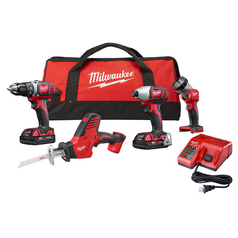 Milwaukee 2695-24CX M18 4 Piece Combo Kit