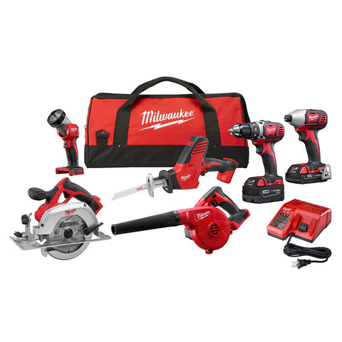Milwaukee 2695-26CX M18 6 Piece Combo Kit