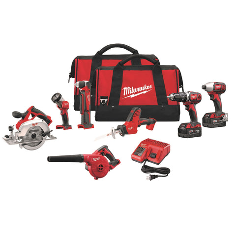 Milwaukee 2695-27 M18 Cordless Li-Ion 7-Tool Combo Kit
