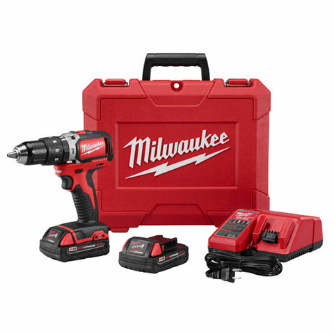 "Milwaukee 2702-22CT M18 1/2"" Compact Brushless Hammer Drill/Driver Kit"