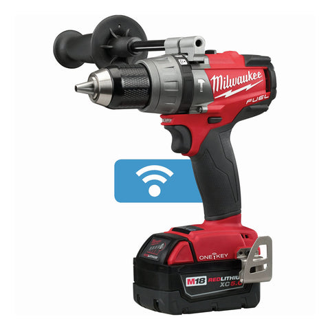 "Milwaukee 2706-22 M18 FUEL 1/2"" Hammer Drill/Driver with ONE-KEY Kit"