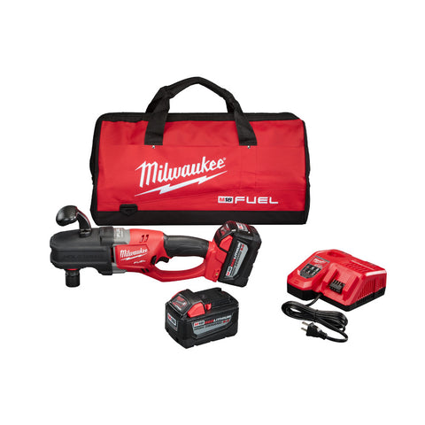 Milwaukee 2708-22HD M18 FUEL Quik-Lok Hole Hawg HD Kit, 2 9.0 AH Battery