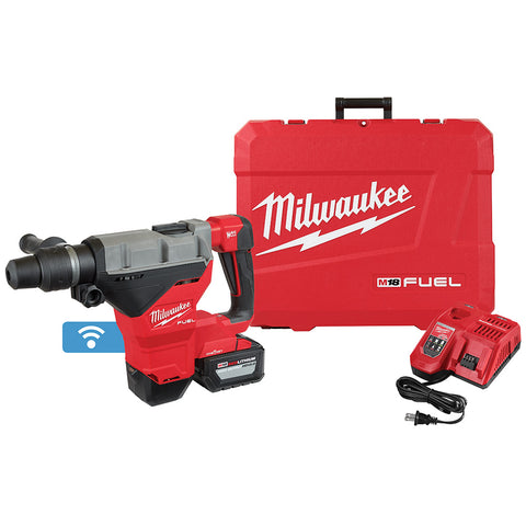 "Milwaukee 2718-21HD M18 FUEL 1-3/4"" SDS MAX Rotary Hammer, ONE KEY Kit w/Battery"