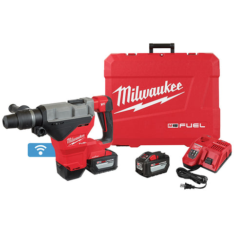 "Milwaukee 2718-22HD M18 FUEL 1-3/4"" SDS MAX Rotary Hammer ONE KEY Kit 2-Battery"