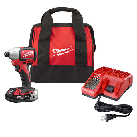 "Milwaukee 2750-21P M18 Compact Brushless 1/4"" Hex Impact Driver"