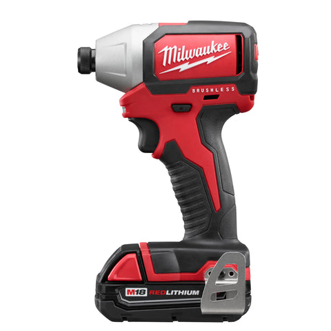 "Milwaukee 2750-22CT M18 1/4"" Hex Brushless Impact Driver Kit"