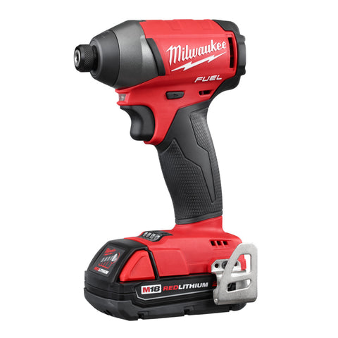 "Milwaukee 2753-22CT M18 FUEL Cordless Li-Ion 1/4"" Hex Impact Driver Tool Kit"