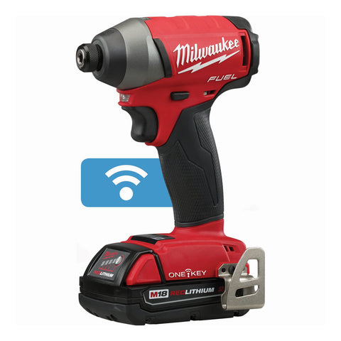 "Milwaukee 2757-22CT M18 FUEL 1/4"" Hex Impact Driver with ONE-KEY Kit"