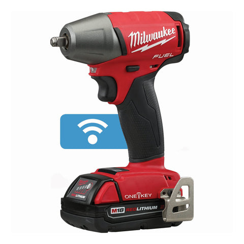 "Milwaukee 2758-22CT M18 FUEL 3/8"" Compact Impact Wrench with Friction Ring with ONE-KEY Kit"