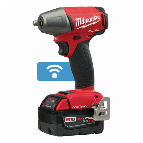 "Milwaukee 2758-22 M18 FUEL 3/8"" Compact Impact Wrench with Friction Ring with ONE-KEY Kit"