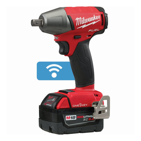 "Milwaukee 2759-22 M18 FUEL 1/2"" Compact Impact Wrench with Pin Detent with ONE-KEY Kit"