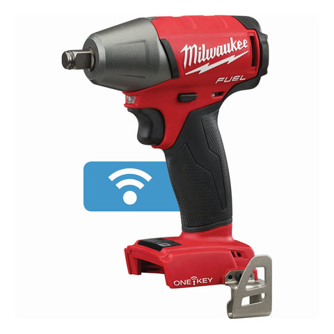 "Milwaukee 2759B-20 M18 FUEL 1/2"" Compact Impact Wrench with Friction Ring with ONE-KEY (Bare Tool)"