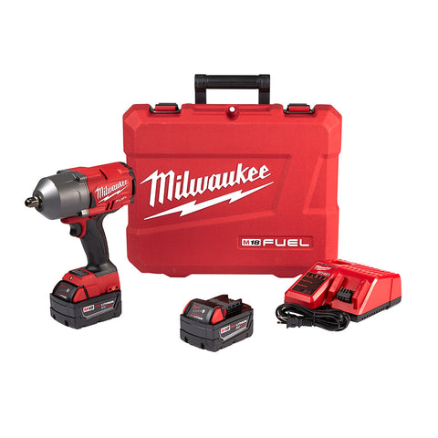 "Milwaukee 2766-22 M18 FUEL 1/2"" High Torque Impact Wrench w/ Pin Detent Kit"