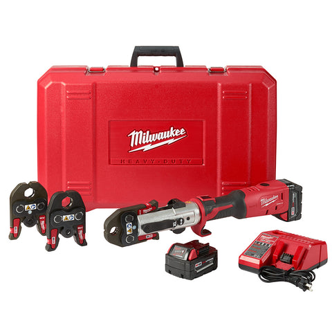 "Milwaukee 2773-22L M18 FORCE LOGIC Long Throw Press Tool 1/2"" -1"" Kit"