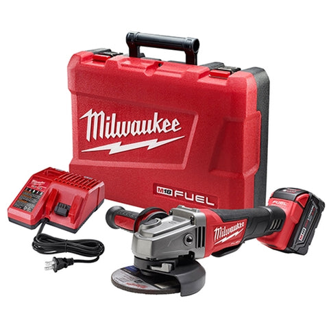 "Milwaukee 2780-21 M18 FUEL 4-1/2 - 5"" Grinder, Paddle Switch No-Lock w/ 1 Battery"