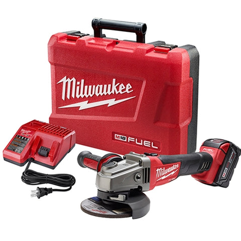 "Milwaukee 2781-21 M18 FUEL 4-1/2 - 5"" Grinder, Slide Switch Lock-On w/ 1 Battery"