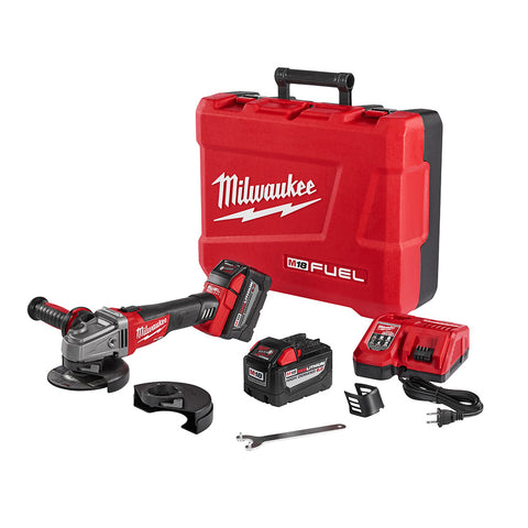 "Milwaukee 2781-22HD M18 FUEL 4-1/2""/5"" Grinder, Slide Lock-On HIGH DEMAND Kit"