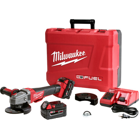 "Milwaukee 2783-22 M18 FUEL Cordless 4-1/2"" / 5"" Braking Grinder Tool Kit"
