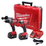 Milwaukee 2797-22 M18 FUEL Hammer Drill / Driver and Impact Combo Kit