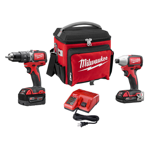 Milwaukee 2799-22CXPO M18 Compact Brushless 2 Piece Kit with FREE Jobsite Cooler