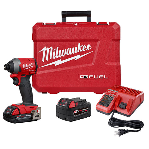 "Milwaukee 2853-22CT M18 FUEL 1/4"" Hex Impact Driver CP Kit"