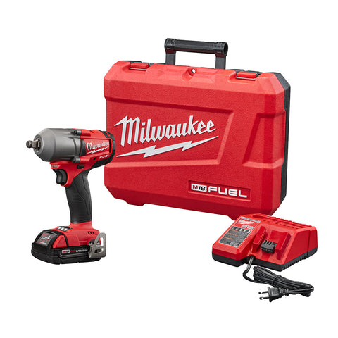 "Milwaukee 2861-21CT M18 FUEL™ 1/2"" Cordless Mid Torque Impact Wrench with Friction Ring Kit"