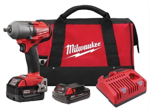 Mid-Torque Impact Wrench w/ Friction Ring Kit, Milwaukee Brand P/N 2861-22CX