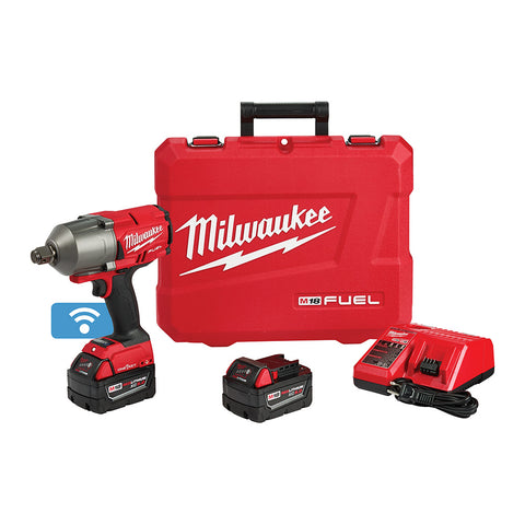 "Milwaukee 2864-22 M18 FUEL ONE-KEY High Torque Impact Wrench 3/4"" Friction Ring Kit"