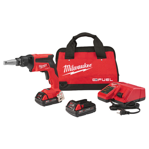 Milwaukee 2866-22CT M18 FUEL Drywall Screw Gun Kit with Compact Batteries