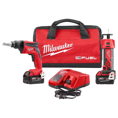 Milwaukee 2866-22P M18 FUEL Drywall Screw Gun Kit with FREE CUTOUT TOOL