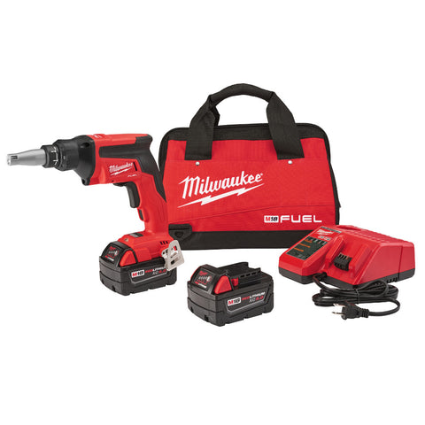Milwaukee 2866-22 M18 FUEL Drywall Screw Gun Kit with High Capacity Batteries