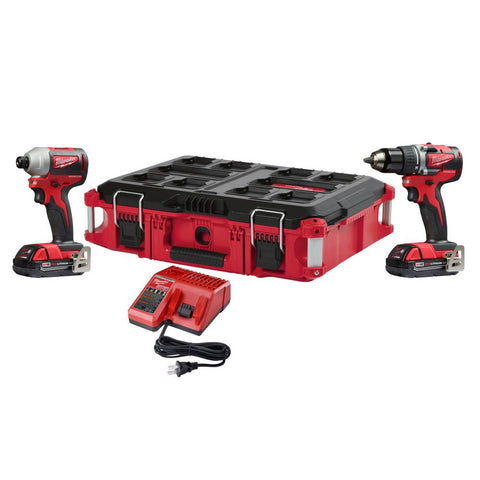 Milwaukee 2892-22CTPO M18 DD / Impact Compact Brushless Packout Kit