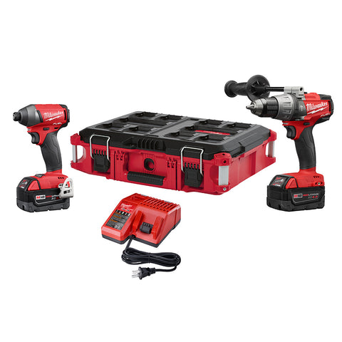 Milwaukee 2897-22PO M18 FUEL 2 Piece Combo Kit with FREE PACKOUT Case