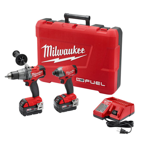 Milwaukee 2897-22 M18 FUEL Cordless Li-Ion 2-Tool Combo Kit - Drill/Impact