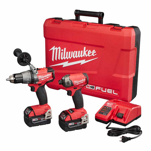 "Milwaukee 2899-22 M18 FUEL Hammer Drill and 1/4"" Hex SURGE Impact Driver Kit"
