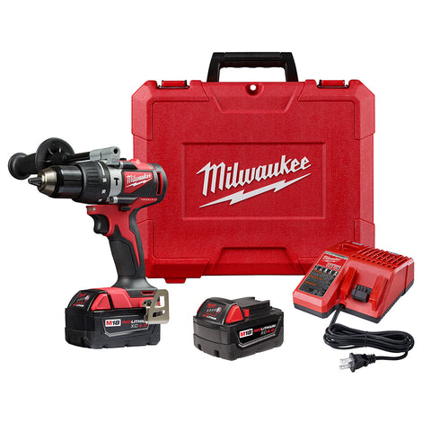 "Milwaukee 2902-22 M18 Brushless 1/2"" Hammer Drill Kit"