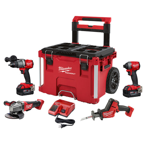 Milwaukee 2997-24PO M18 FUEL GEN III 4pc Kit w/ PACKOUT