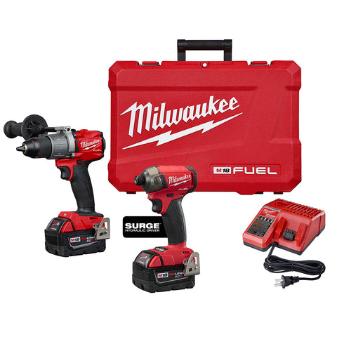 Milwaukee 2999-22 M18 FUEL 2-Tool Hammer Drill & SURGE Hydraulic Driver Kit