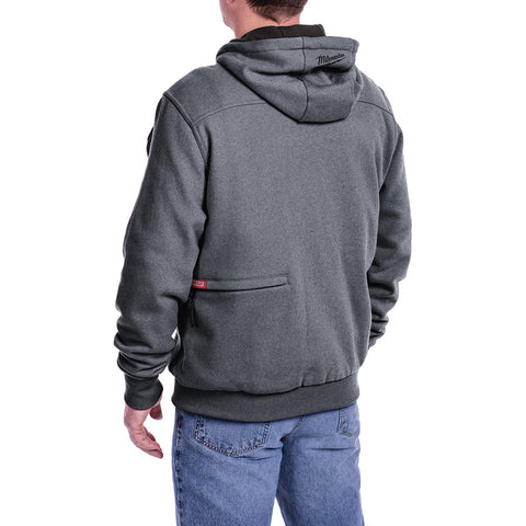 Milwaukee 302g 20m M12 Heated Hoodie Only M Gray Red