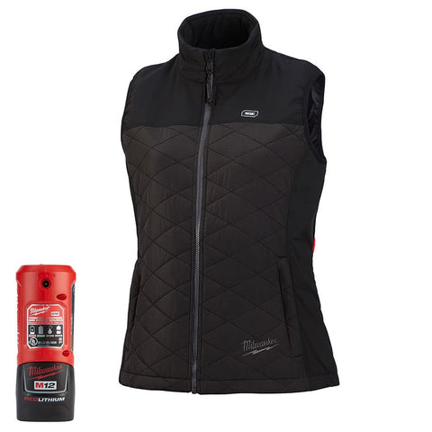 Milwaukee 333B-212X M12 Heated Women's AXIS Vest Kit 2X, Black