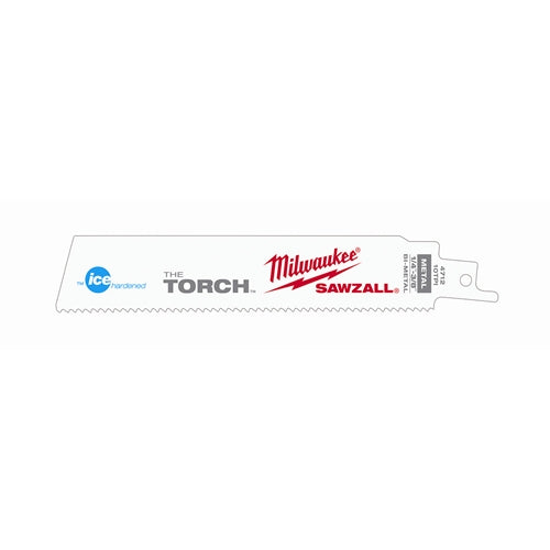 "Milwaukee 48-00-4712 Ice Hardened 6"" 10 TPI The Torch Sawzall Blade 5-Pack"